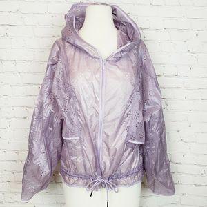 Stella Mcartney Adidas Mesh Dot Hoodie Rain Jacket